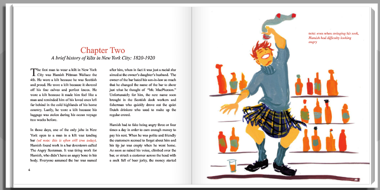 I wrote, designed, and published a book called Kilt Me.